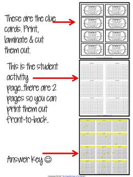 100 Chart Activities-What Number Could I Be?