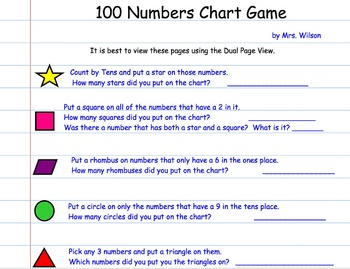 100 Chart Came