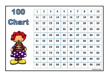 100 Chart Costume Party Colour