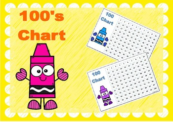 100 Chart Crayons Colour
