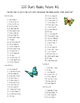 100 Chart Hidden Picture Butterfly Summer Add Sub Mult place value Practice