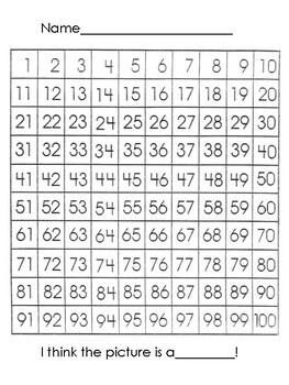 100 Chart Hidden Picture- Sailboat