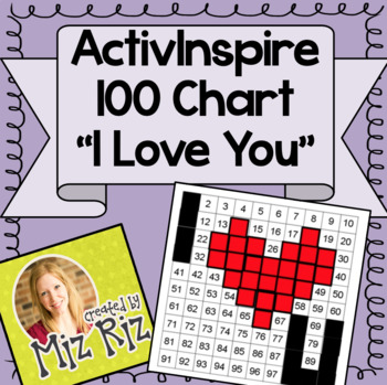 100 Chart Hidden Picture on ActivInspire- I Love You