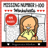 100 Chart Missing Number - Numbers 1-100 missing worksheets
