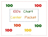 100 Chart Missing Number Center Packet