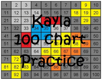 100 Chart Practice Rocketship