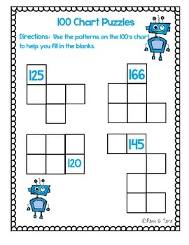 100 Chart Puzzles- Numbers 100-200