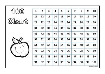 100 Chart School Favourites B&W