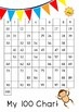 100 Chart Task Cards and Worksheet - Start From Zero