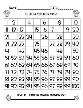100 Chart (and 200 Chart)-Fill In The Missing Numbers!!