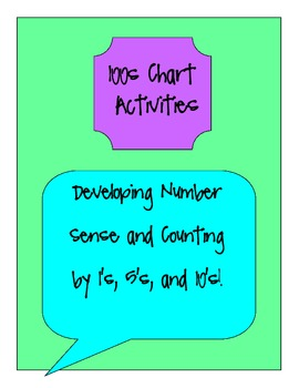 100 Charts: Counting by 1's, 5's, and 10's