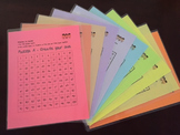 100 Charts: Puzzles (complete laminated set on colored paper)