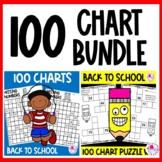100 Charts Worksheets Back to School BUNDLE | 100 Chart Ac