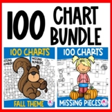 100 Charts Worksheets Fall Theme BUNDLE | 100 Chart Activi