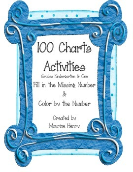 100 Charts and Activities, Fill in the Missing Numbers & C