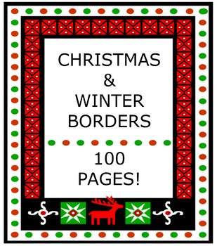 100 Christmas & Winter Borders