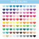 100 Circles clipart, Round circles for planner, Colorful Dotts for Kids