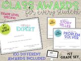 100 Class Awards for 1st Grade