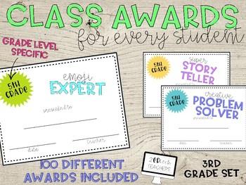 100 Class Awards for 3rd Grade