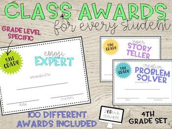 100 Class Awards for 4th Grade
