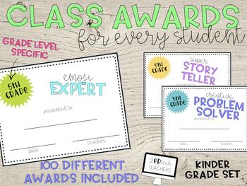 100 Class Awards for Kindergarten