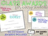 100 Class Awards for Pre-Kindergarten