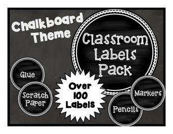 100+ Classroom Labels- Chalkboard Theme