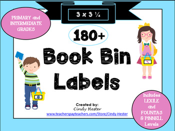 100+ Classroom Library Book Bin Labels 3x3 for Primary and Intermediate-EDITABLE