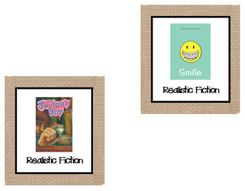 100+ Classroom Library Burlap Book Bin Labels for Primary/ Intermediate-EDITABLE