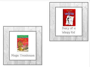 100+ Classroom Library Shiplap Book Bin Labels for Primary/Intermediate-EDITABLE