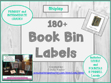 100+ Classroom Library Shiplap Book Bin Labels for Primary