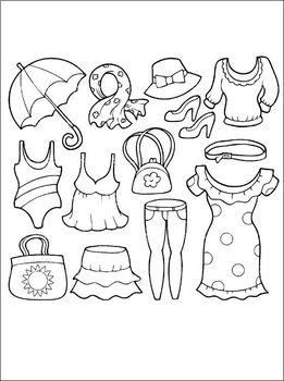 100 Clothes coloring book