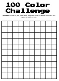 100 Color Challenge Template
