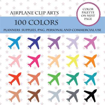 100 Colors Clip Art, 100 Airplane clipart, Plane clipart, Planes icons