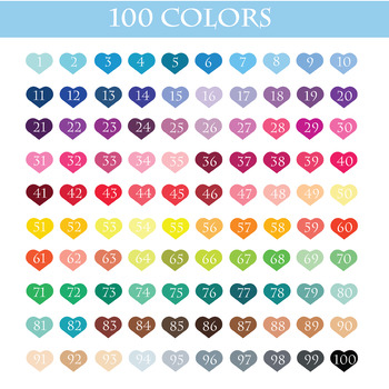 100 Colors Clip Art, Bows and Ribbons Cliparts, Bowknot decoration scrapbooking