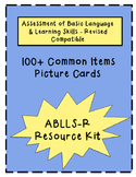 100 Common Items Picture Cards: ABLLS & VB-MAPP Teaching & Assessment Resource