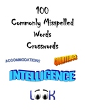 100 Commonly Misspelled Words - 4 Crossword Puzzles