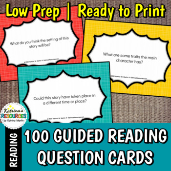 100 Comprehension Questions for Your Guided Reading Groups - Elementary Level