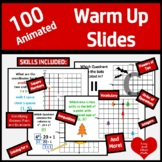 100 Coordinate Warm Ups  with Animation