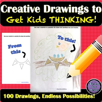 Critical Thinking Activity and Creative Drawings  -- Includes 100 Drawings!