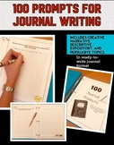 100 Creative Journal Prompts- In journaling format