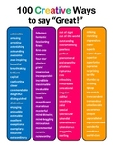 "100 Creative Ways to Say ""Great"""