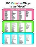 "100 Creative Ways to say ""Good"""