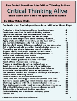 100 Critical Thinking Prompts in Brain Based Questions