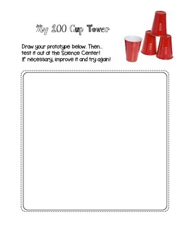 100 Cup Tower Worksheet