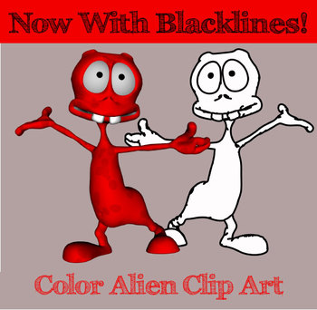 100 Cute Alien / Monster Clip Art Images - Now With Blacklines/Digital Stamps
