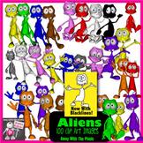 100 Cute Alien / Monster Clip Art Images - Now With Blackl