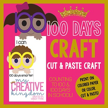 100 DAY Writing Activity Craft