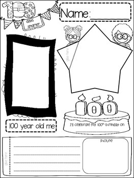 100 DAYS OF SCHOOL {{quick topics}} one interactive worksheet