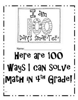 100 DAYS SMARTER IN 4TH GRADE MATH